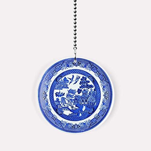 - Blue Willow Plate Fan/Light Pull