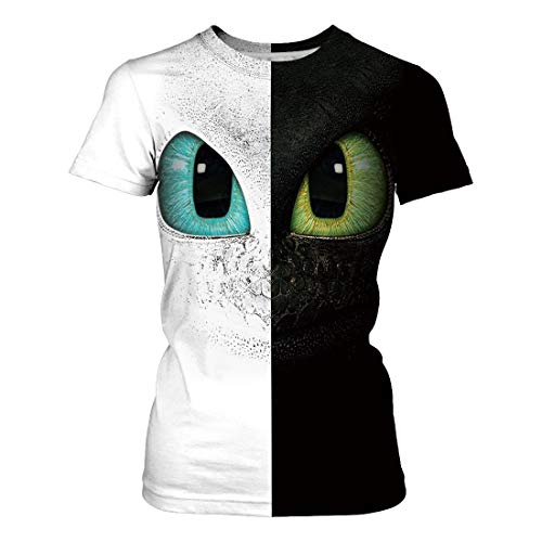 How to Train Your Dragon T Shirt Toothless Light Fury Dragon Short Sleeve Couple Shirt