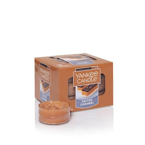 Yankee Candles Salted Caramel Tea Light Candle, Food & Spice Scent