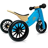 Kinderfeets TinyTot Wooden Balance Bike and Tricycle in 1! ages 12-24 months. BLUE