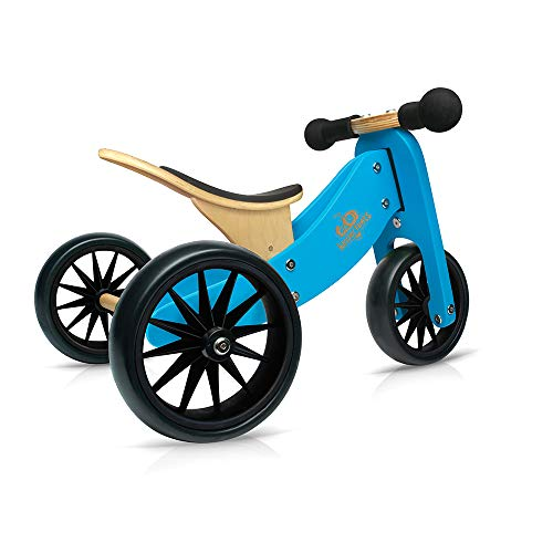 - Kinderfeets TinyTot Wooden Balance Bike and Tricycle in 1! ages 12-24 months. BLUE