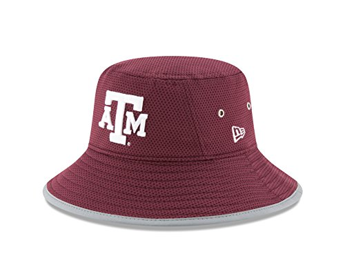 New Era NCAA Texas A&M Aggies Adult NE16 Training Bucket Hat, One Size, Maroon (Training Spring Hats)