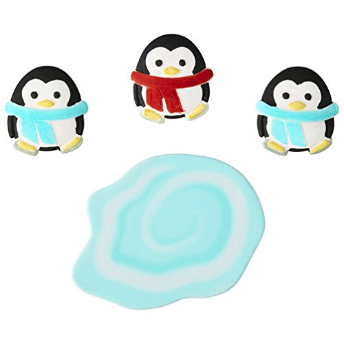 Wilton 4 Count Candy Decorations - Penguins with Pond