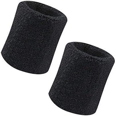 Vidillo Sweatband Wrist Sweatband Pack Inch Sports Sweatband Wristband Soft Thicken Cotton for Tennis Gymnastics Football Basketball Running Athletic Sports Estimated Price -