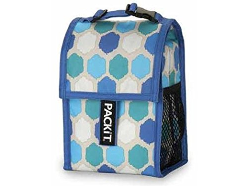 PkIt Double Baby Bottle Bag - Blue Dot by PackIt