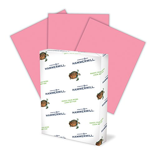 Hammermill Colored Paper, Cherry Printer Paper, 20lb, 8.5x11 Paper, Letter Size, 500 Sheets / 1 Ream, Pastel Paper, Colorful Paper ()