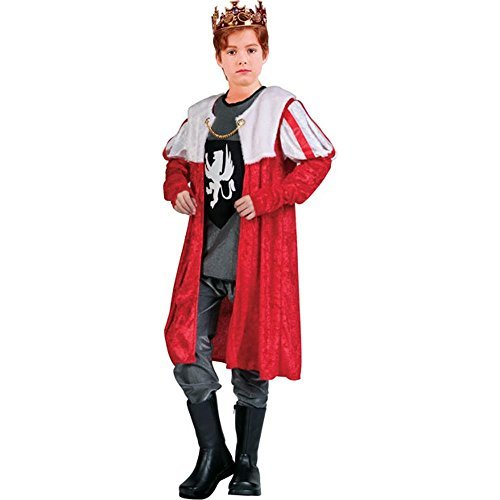 King Robe - Red w/ Sleeves, Child Small Costume