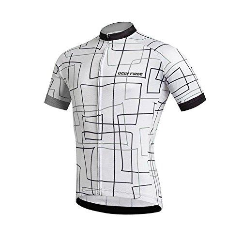 Uglyfrog Newest Designs Bike Wear Men's Cycling Jerseys Tops Biking Shirts Short Bike Clothing Full Zip Anti-Slip Strip Bicycle Jacket with ()