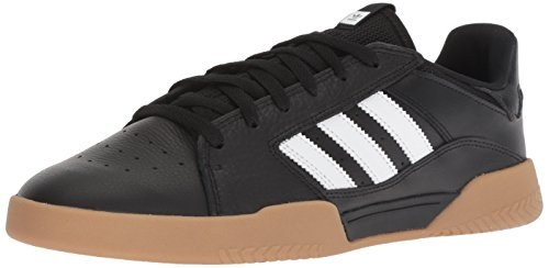 adidas Originals Men's VRX Low Skate Shoe, Black/White/Gum, 10 M US