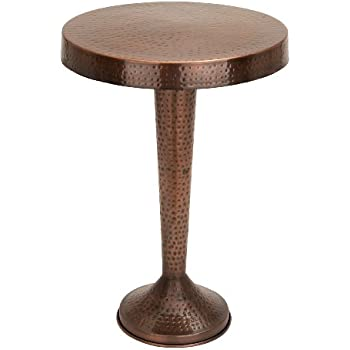 Awesome Benzara Vintage Inspire Metal Bronze Accent Table, 26 Inch, 19 Inch