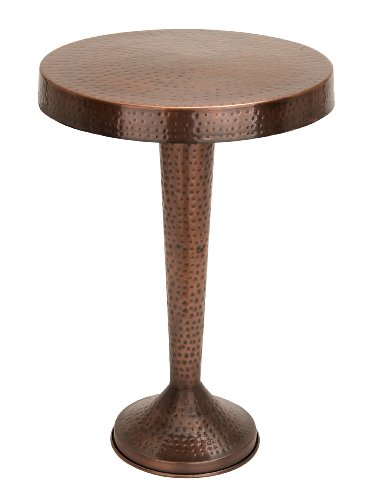 Side Bronze Table (Benzara Vintage Inspire Metal Bronze Accent Table, 26-Inch, 19-Inch)
