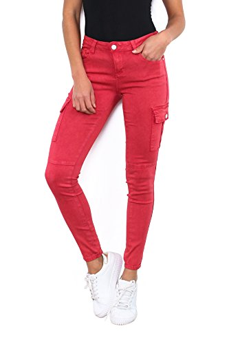 Noir Triple XXX - Jeans - Femme Rouge Red