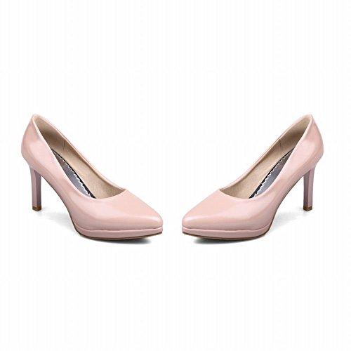 MissSaSa Damen geschlossen Pointed toe Plateau Stiletto Pumps Pink