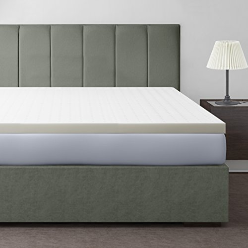 Best Price Mattress 2.5' Ventilated Memory Foam Mattress Topper, Short Queen