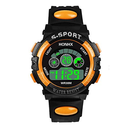 Chronograph Pocket Timepiece - WUAI Men's Chronograph Waterproof Sport Watch Fashion Analog Digital Military Quartz Wristwatch