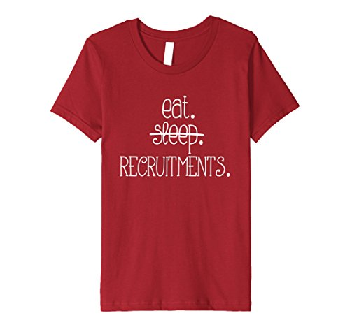 Greek Recruitment Shirts - Kids Eat Sleep Recruitments. T Shirt for Sorority and Fraternity 4 Cranberry