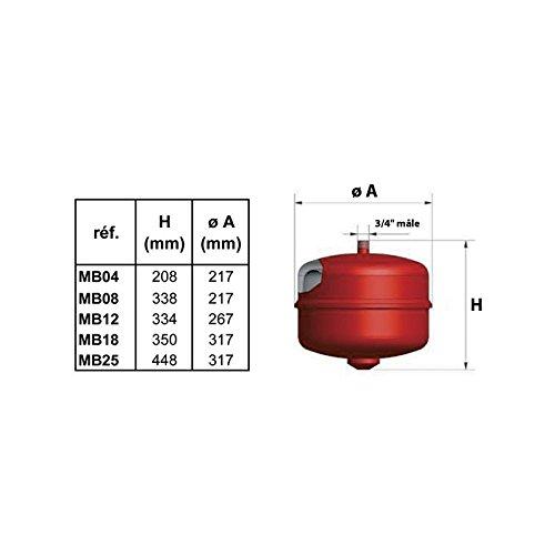 vase dexpansion gitral mb25 25 litres a membrane tarage 1.5 bars
