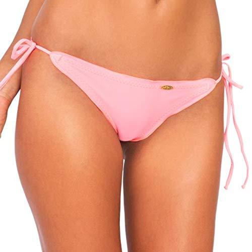 - Luli Fama Cosita Buena - Wavey Brazilian Tie Side Ruched Back-DCC - M/Pink Sunsets