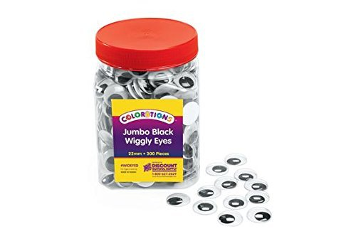 Colorations Jumbo Wiggly Eyes Pack of 300 for Arts and Crafts Projects