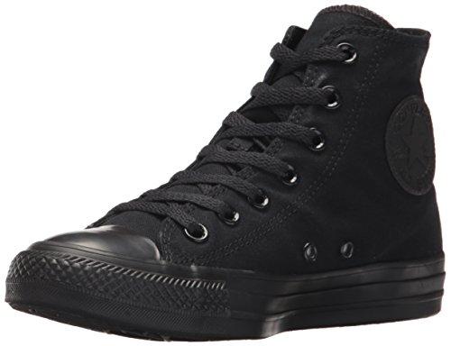Converse Chuck Taylor All Star Canvas High Top Sneaker, Black Monochrome, 6 US Men/8 US Women (High Tops Shoes Converse)