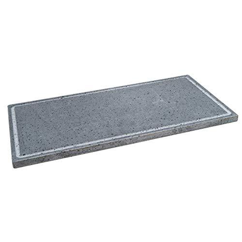 Lava Grill L grillpan lavasteen etnea plaat 60 x 30 cm voor oven en grill vlees, vis, groenten en pizza Etna Stone…