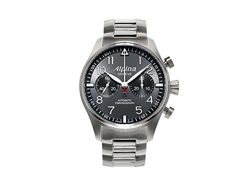 Alpina Startimer Pilot Automatic Watch, Chronograph, AL-860, Grey, Limited Ed.