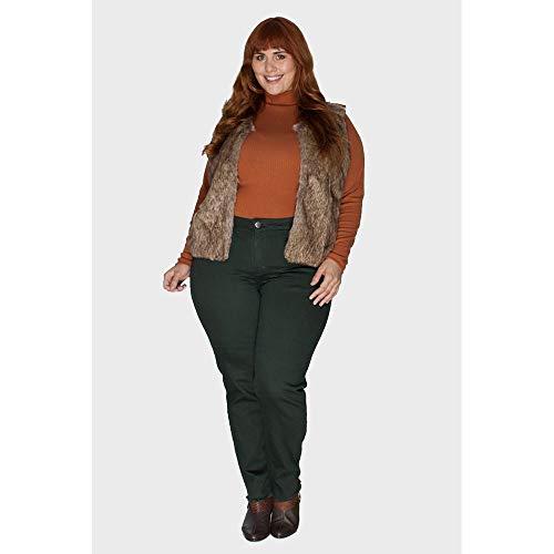 Calça Skinny Plus Size Verde Escuro-50