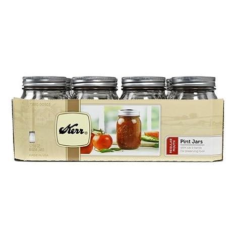 Amazon.com: Kerr 1 pinta tarro con boca 70610 – 00503 – 12 ...