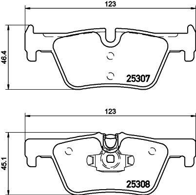 Pad Brake Mintex Rear (Replacement Mintex Rear Brake Pads (Full set for Rear Axle) MDB3215)