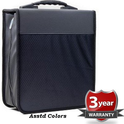 iLogic 340 Capacity Compact Disc CD DVD Blu-Ray Nylon Media Wallet Folder Black With Assorted Trim - / Cd Disc Dvd Nylon