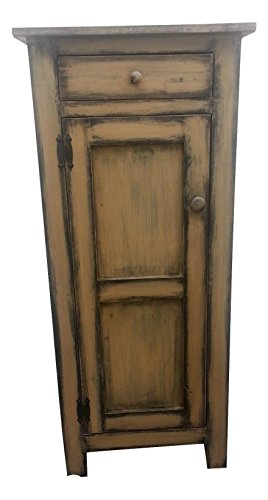 (Primitive Pie Safe Cabinet with One)