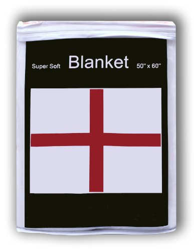 George English Flag (English St. George's Cross Fleece Blanket 5 ft x 4.2 ft. Throw Cover Flag of England Great Britain UK Union Jack British)