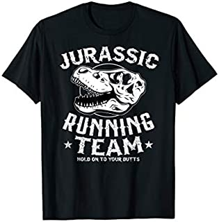 Cool Gift jurassic running team t shirt running shirts with sayings Women Long Sleeve Funny Shirt / Navy / S - 5XL