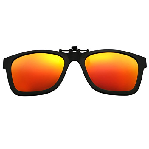 Flip up Sunglasses,Clip-on Lens Wayfarer Polarized Clip-on TR90 Frame - Up Sunglasses Wayfarer Flip