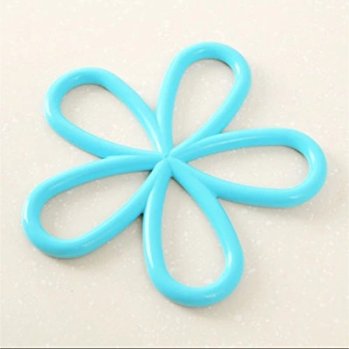 NEW!!! SKY BLUE Silicone Heat-Proof Mat Anti-Slip Pot Holder Pan Pad Bowl Plate Dish Placemat Cup Coaster Kitchen Dining Table