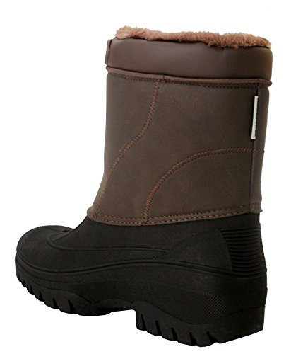 Resistant 8 Thermal Groundwork Fur Durable Snow 4 Mucker Brown UK Boots Mud Winter Rain Ladies Water Womens Sizes Lined WppqTI