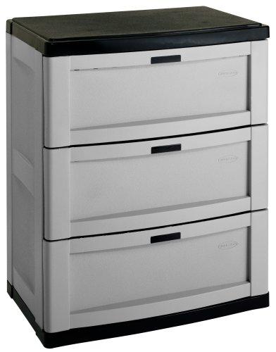 Suncast C3703G 3 Drawer Utility Storage Cabinet - bedroomdesign.us