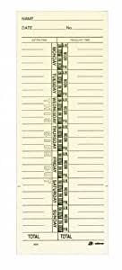 """Adams Time Cards, Weekly, 1-Sided, Named Days, 3-3/8"""" x 9"""", Manila, Green Print, 200-Count (9659-200)"""