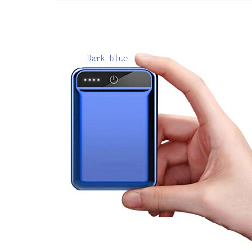Mini Charging 10000mAh Portable Lightweight Ultra-Small Mobile Power Mobile Phone Universal (Color : Dark Blue)