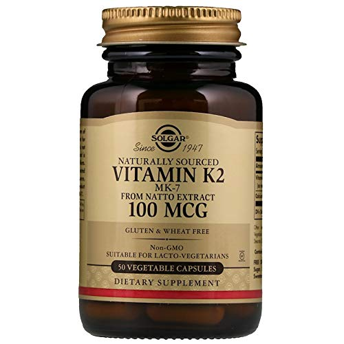Solgar - Naturally Sourced Vitamin K2 (MK-7) 100 mcg, 50 Vegetable Capsules ()
