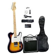 Pyle PGEKT46 Sunburst 42-Inch Electric 6-String Guitar and Amplifier Kit (Discontinued by Manufacturer)