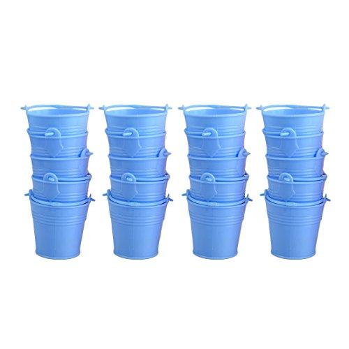 Candy Buckets,Hmane 20Pcs Mini Cute Colorful Candy Buckets Pails - Blue -