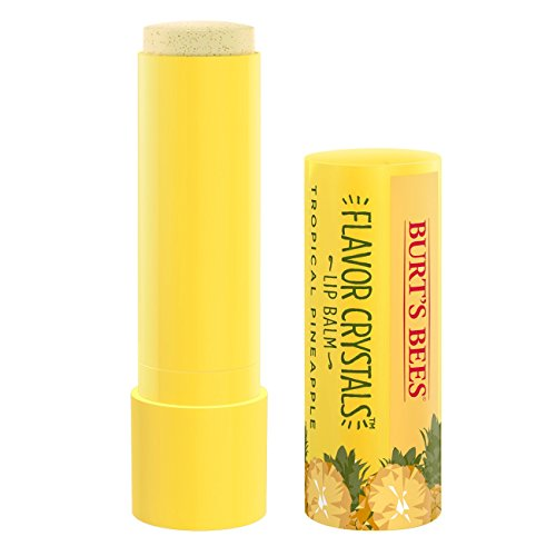 Fresh Pineapple - Burt's Bees Flavor Crystals 100% Natural Lip Balm, Tropical Pineapple with Beeswax & Fruit Extracts - 1 Tube