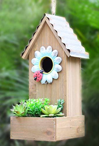 GIFTME 5 Galvanized Birdhouse for Outdoor Hanging Bird House Graden Decor13.5 Inch ()