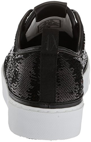 Sneaker Low Nero Cut Bianco X A Armani Womens Exchange Sequined xwn0P7qXz