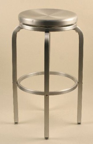 Alston Quality AC2600-24 Paula Aluminum Stool 24 in. H