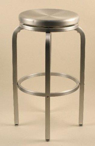 - Paula Brushed Aluminum Swivel Bar Stool