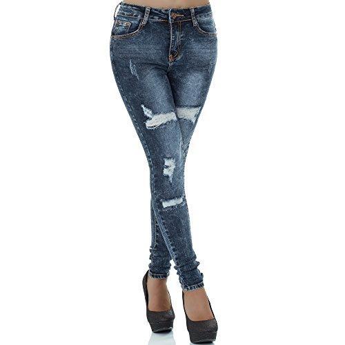 Azul skinny para Vaqueros malucas mujer WgxIAgq