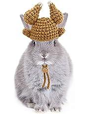 CooShou Small Animal Turkey Hat for Rabbit Hamster Guinea Pig Chinchilla Hedgehog Lizard Bearded Dragon and Other Small Pet Handmade Hamster Thanksgiving Halloween Turkey Hat Costume