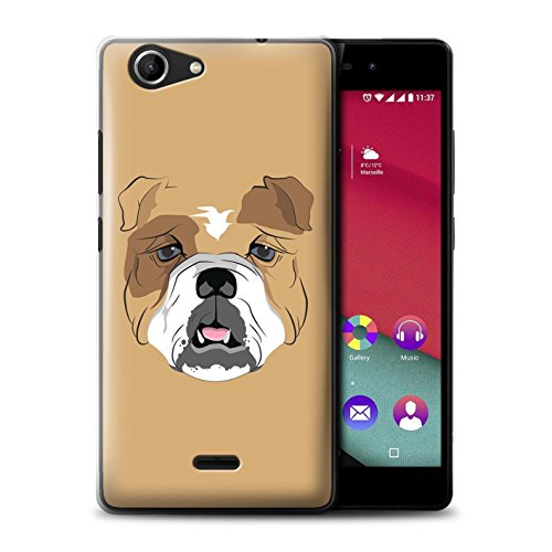 STUFF4 Phone Case / Cover for Wiko Pulp Fab 4G / Dog/Bulldog Design / Animal Faces - Designer Dog Fab